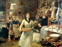 Victor Gabriel Gilbert - the-market-place