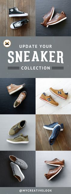Update Your Sneaker Collection. Check out a whole collection of sneakers for a variety of occasions. Visit mycreativelook.com/shop/sneakers #sneakers #shoes #kicks #inspiration #mensstyle #shop