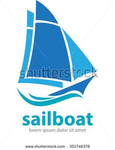 Vector abstract, shape sailing boat for logo or symbol shipping company