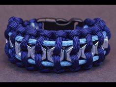 "▶ How to Make the ""Hex Nut"" Paracord Survival Bracelet - BoredParacord - YouTube"