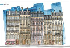 Architectural Illustration: Paris, France