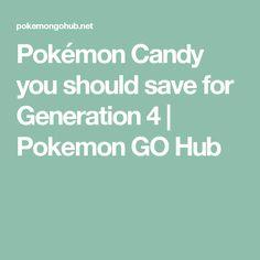 Pokémon Candy you should save for Generation 4 | Pokemon GO Hub