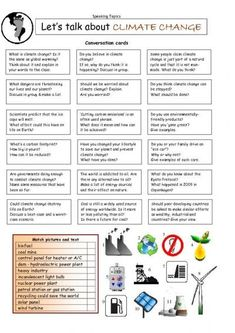 Let's Talk about CLIMATE CHANGE worksheet - iSLCollective.com - Free ESL worksheets: