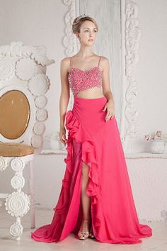 Court Chiffon Train Straps/Sweetheart Backless Sleeveless Spaghetti Beading/Diamond/Ruched/Sequins Classic/Modern A-line Pink Natural Floor-length Evening Dress Prom Dresses Under 100, Straps Prom Dresses, Affordable Prom Dresses, Unique Prom Dresses, Pink Prom Dresses, Prom Dresses For Sale, Cheap Evening Dresses, Ball Gowns Prom, Homecoming Dresses