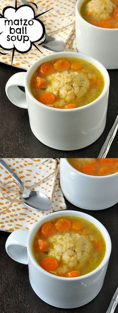 Homemade Vegetarian Matzo Ball Soup :: YUM!