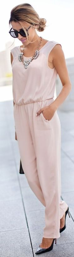 Zara Pale Pink Women's Summer Street Chic Jumpsuit by Hello Fashion