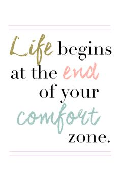"""Life begins at the end of your comfort zone."" >> Click here to download this wallpaper!"