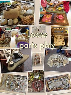 Reggio: loose parts this kindergarten life: loosely told stories Play Based Learning, Learning Through Play, Early Learning, Reggio Emilia Classroom, Reggio Inspired Classrooms, Heuristic Play, Kindergarten, Small World Play, Preschool Activities