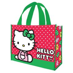 c57adefa1 Hello Kitty Holiday Large Recycled Shopper Tote - Vandor - Hello Kitty -  Tote Bags at Entertainment Earth