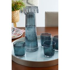 Serve up cold beverages in style in the graceful Global Views Solstice Decanter . Decanter, Glass Vase, Dining Room, Home Decor, Store, Decoration Home, Carafe, Room Decor, Home Interior Design