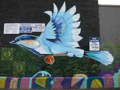Mudbay Bird Mural by John Osgood with Wakuda & OneSevenNine | by wiredforlego