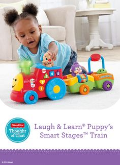 We got the fisher price laugh learn barn its so much fun fisher price laugh learn puppys smart stages train features a motorized train to encourage crawling plus 50 sing along songs tunes phrases publicscrutiny Images