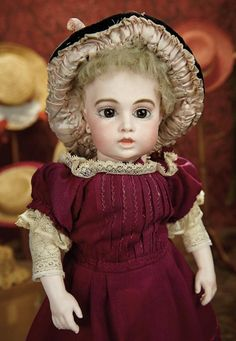 The Memory of All That - Marquis Antique Doll Auction: 195 Lovely French Bisque Brown-Eyed Bebe, Known as Circle Dot Model, by Leon Casimir Bru