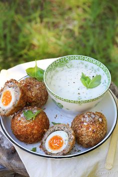 Scotch Eggs with a Horseradish & Chive Mayonnaise