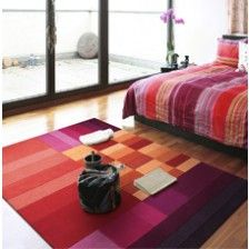 Red Boxes Rug