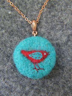 Little Bird Felted Pendant | Flickr - Photo Sharing!