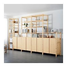IKEA - IVAR, 5 sections with shelves/cabinets, Untreated solid pine is a durable…