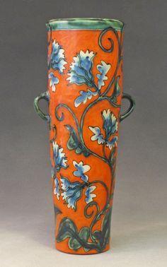 Debra Kuzyk and Ray Mackie - Orange vase, blue flowers