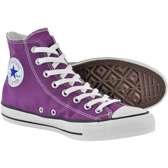 Converse All Stars Laker Purple boots - Converse hi tops - All Stars... ($64) ❤ liked on Polyvore