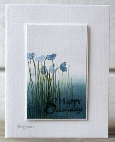 handmade card: Early Morning by Biggan  ... luv the way the card looks like and artwork ready to put into a fram ... clean and empressionistic look ...
