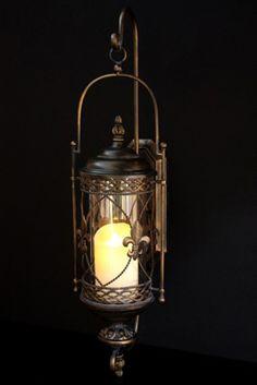Fleur De Lis Lantern - by Laguna Furnishings - Accessories, Gifts & More in Westlake Village CA - http://www.lagunafurnishings.com/catalog/accessories