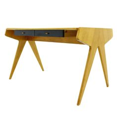 Helmut Magg Desk, Germany 1950 I love this desk. Its design and form are so simple and modern. Why did they stop producing things like this?
