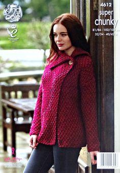 Womens Knitting Pattern K4612 Ladies Wrap Over Moss Stitch
