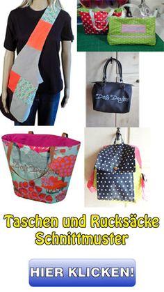 Taschen und Rücksäcke Schnittmuster