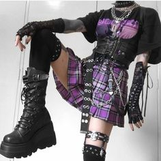 Swaggy Outfits, Edgy Outfits, Retro Outfits, Grunge Outfits, Cute Casual Outfits, Scene Girl Outfits, Egirl Fashion, Kawaii Fashion, Fashion Outfits