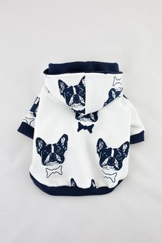 Handmade Dog Hoodie (clothes for small size dogs) dog sweater, Dog clothes, Pet clothing, French bulldog by LolaDogFashion on Etsy
