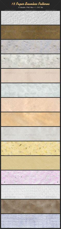 15 Paper Seamless Patterns