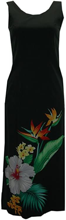 Jade Fashions Inc. Women's Hawaiian Tropical Long Tank Dress at Amazon Women's Clothing store Scuba Dress, Tank Dress, One Shoulder Bridesmaid, Prom Dresses With Pockets, Women's Plus Size Shorts, Glitter Dress, Everyday Dresses, Calvin Klein Women, Prom Party Dresses