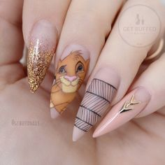 """13k Likes, 236 Comments - ⭐️ Sarah ⭐️ (@getbuffednails) on Instagram: """"Never forget who you are ~Simba~ tag the Lion King lovers ❤️ Most of my childhood was spent…"""""""