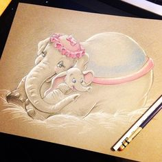 """Baby Mine."" by #BriannaCherryGarcia #Dumbo"