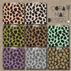 """FREE! leopard print digital papers, 12x12"""" & 8.5x11"""". Also comes in iPhone wallpaper & Facebook cover photo"""