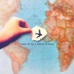 """""""Algún día voy a recorrer el mundo"""" #LifeQuotes #travelquotes #inspiracionviajera #viajar #viajes #frases"""