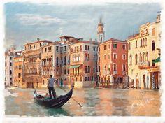 Venice. Digitized using Corel Painter 12