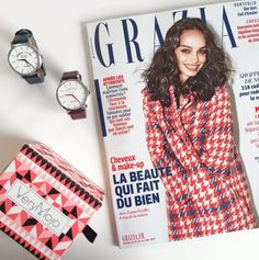 Friday, I'm in love ❤️ Vendredi lecture dans les bureaux de VeryMojo avec le dernier @grazia_fr #verymojo #friday #tgif #vendredilecture #grazia #montre #watch ► www.verymojo.com ◄