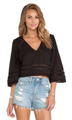 e44d9427824 Shop for Tularosa Samantha Top in Black at REVOLVE.