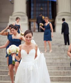Love the dress ~ change the top a little...taffeta wedding gown Amsale Coco