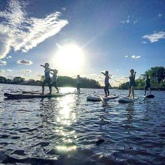 SUP yogi's from last week, improving their concentration, stamina, balance and stability 🕉 tomorrow's forecast is a top of 26 degrees 🌞 which means savasana in the sun is going to be a treat! Class starts at 6pm, Book online at www.jogayoga.com.au to score the last few spaces to SUP yoga with @suping_caveman and @jogayogacanberra  #virabhadrasana Tomorrow's Forecast, Sup Yoga, Stability, Books Online, Spaces