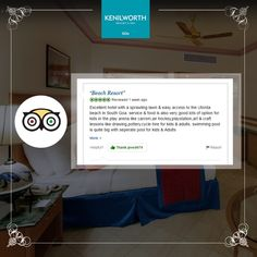 Nothing feels better than being appreciated for our continued efforts in offering you the finest of services! We hope to host you again soon. #TripAdvisor #CustomerReview #CustomerFeedbacks #KenilworthHotel #Restaurant #Resort #Goa