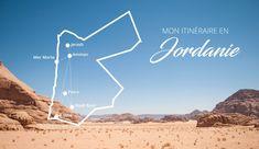 Mon itinéraire en Jordanie