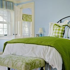 Green And Blue Bedroom Design, Pictures, Remodel, Decor and Ideas