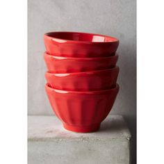 Anthropologie Mini Latte Bowl Set featuring polyvore, home, kitchen & dining, tomato and anthropologie
