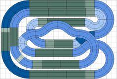 Mis circuitos de slot. La mayor colección de diseños de scalextric del mundo.: Nº 1366 al 1369. Cuatro circuitos: uno de rally, otro de velocidad y dos intercambiables de 2 carriles de 34m o 4 carriles de 17m.