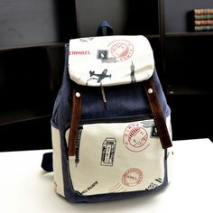 I am so happy to find the Leisure Eiffel Tower Postmark Canvas Backpack from ByGoods.com. I like it <3!Do you like it,too?