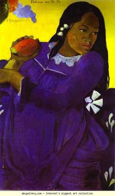 Paul Gauguin. Vahine no te vi (Woman with a Mango). Olga's Gallery.