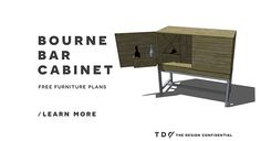 Free DIY Furniture Plans: How to Build a Bourne Bar Cabinet
