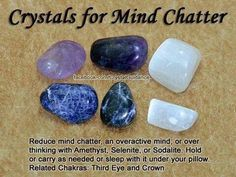 Crystals for Intuition Amethyst, Lapis Lazuli, Moonstone, or Sodalite can be used to enhance and boost your natural intuitive gifts. Work with your favorite intuition crystals by placing them on your Third Eye or holding them in your hands while you m Crystal Healing Stones, Crystal Magic, Crystal Grid, Grounding Crystals, Crystals And Gemstones, Stones And Crystals, Gem Stones, Crystal Meanings, Gemstones Meanings